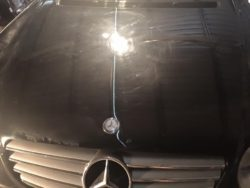 Mercedes Bonnet Damaged