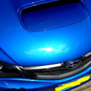 WRX Paint Correction After Bonnet close up